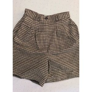 Vintage, high waisted pleated,  shorts